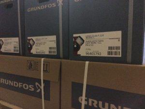 Насосы Grundfos UPSD на палете
